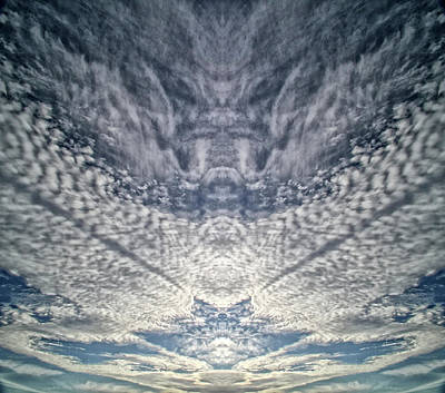 Photograph - Mackerel Sky  Pareidolia by Constantine Gregory