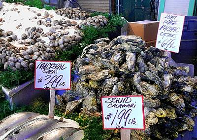 Photograph - Mackerel Squid And Oysters   Oh My by Terri Thompson
