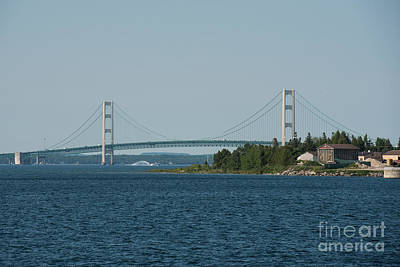 1-war Is Hell Royalty Free Images - Mackinac Bridge 5 Royalty-Free Image by Wesley Farnsworth
