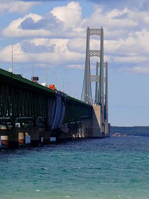Photograph - Mackinac Bridge At Sixty Eight by Keith Stokes