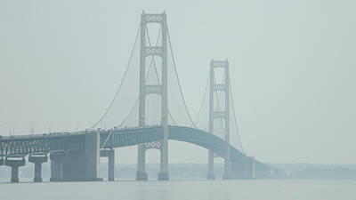 Photograph - Mackinac Bridge by Dennis Pintoski