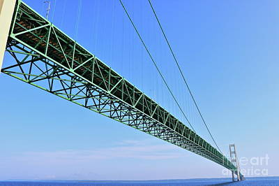 Photograph - Mackinac Bridge by Erick Schmidt