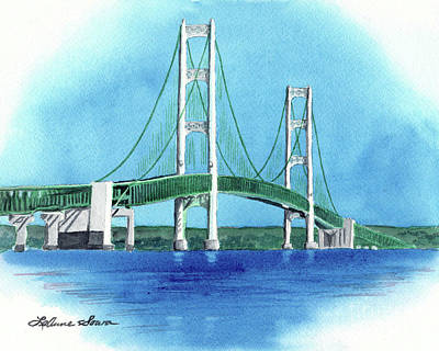 Painting - Mackinac Bridge by LeAnne Sowa