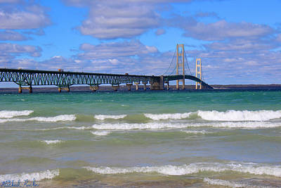 Photograph - Mackinac Bridge by Michael Rucker