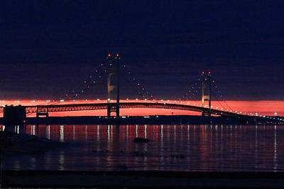 Photograph - Mackinac Bridge On A June Evening by Keith Stokes