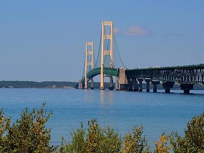 Photograph - Mackinac Bridge On A Sunny Afternoon by Keith Stokes
