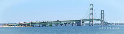 Photograph - Mackinac Bridge Panorama by Ann Horn