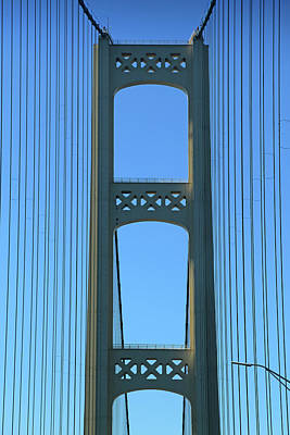 Photograph - Mackinac Bridge Tower by Mary Bedy