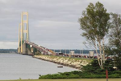 Mackinac Bridge Walk Art Print