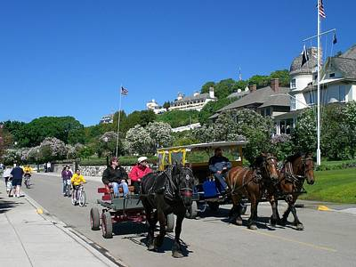 Lilac Time Photograph - Mackinac Island At Lilac Time  by Keith Stokes