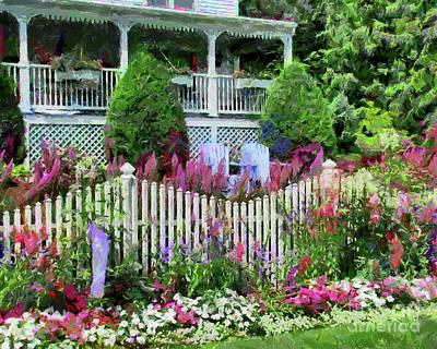 Photograph - Mackinac Island Garden by Betsy Foster Breen