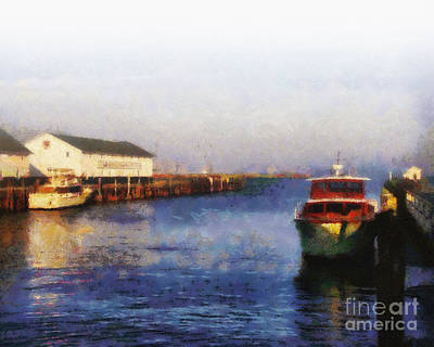 Photograph - Mackinac Island Michigan Ferry Dock by Betsy Foster Breen