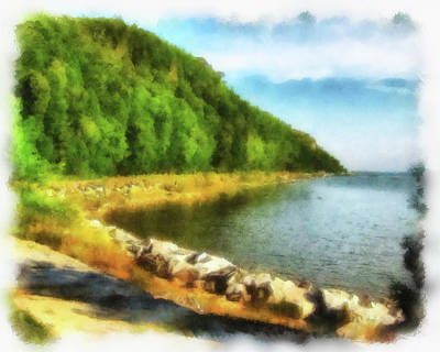 Photograph - Mackinac Island Michigan's Northeast Shore by Betsy Foster Breen