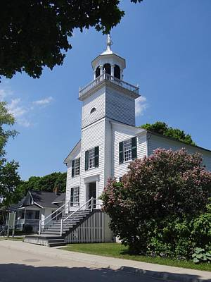 Photograph - Mackinac Island Mission Church by Keith Stokes