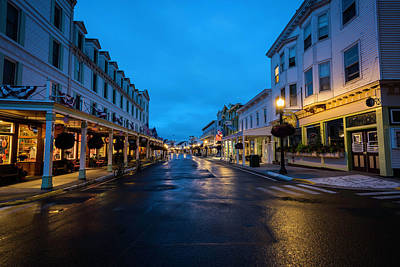 Photograph - Mackinac Island Town At Dawn by Scott Cunningham
