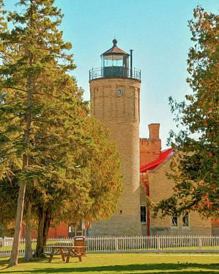 Photograph - Mackinac Lighthouse by Trey Foerster