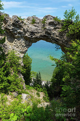 Photograph - Mackinacs Arch Rock by Jennifer White