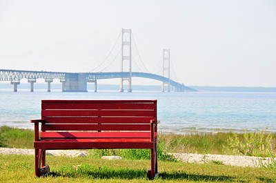 Photograph - Mackinaw Bench by David Arment