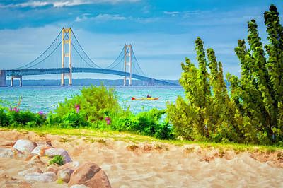 Photograph - Mackinaw Bridge Summer by LeeAnn McLaneGoetz McLaneGoetzStudioLLCcom