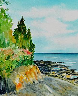Maine Seacoast Painting - Mackworth Island Maine  by Brenda Owen