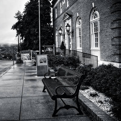 Fog Photograph - Macon County Emergency Services In Black And White by Greg Mimbs