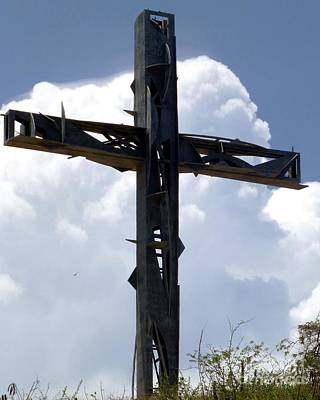 Photograph - Macotela Cross, Puerto Los Cabos by Barbie Corbett-Newmin