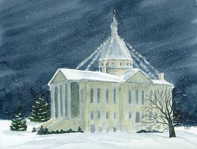 Macoupin County Illinois Courthouse Art Print by Denise   Hoff