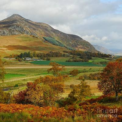 Macpherson Autumn - The Clan Macphersons Seat  Art Print by John Kelly