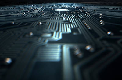 Macro Circuit Board Technology Art Print