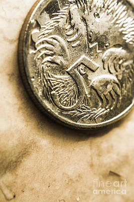 Macro Five Cents Australia Currency Art Print by Jorgo Photography - Wall Art Gallery