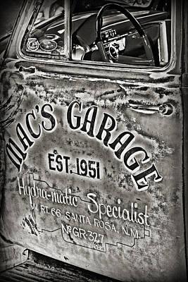 Macs Garage Art Print