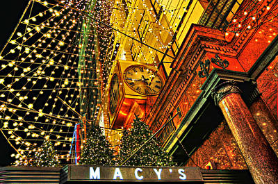 Macy's Christmas Lights Art Print by Randy Aveille