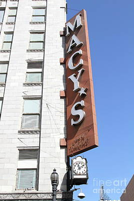 Photograph - Macys Department Store In San Francisco California 7d7346 by San Francisco