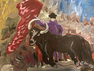Mullin Painting - Mad Bull Has Lost His Way by Edward Paul