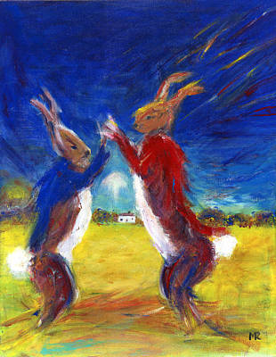 March Hare Painting - Mad Hare March by Michelle Reeve