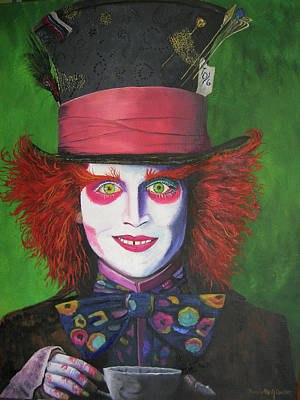 Mad Hatter Johnny D Original by Charolette A Coulter