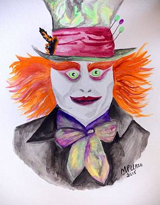 Mad Hatter Art Print by Maria Urso