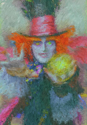 Mad Hatter Painting - Mad Hatter by Richard Alves Brandao