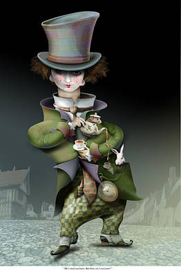 Mad Hatter Painting - Mad Hatter by Russel Ball