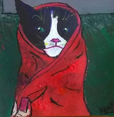 Mad Kitty Art Print by Hema Melendez