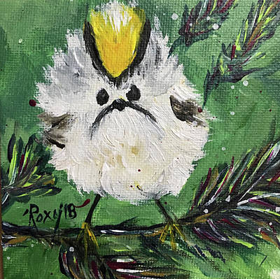 Image Painting - Mad Little Tit  by Roxy Rich