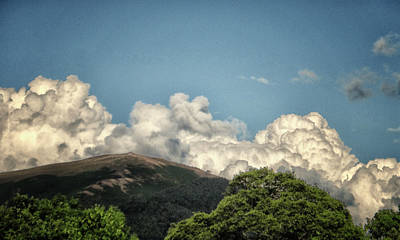 Mad Looking Clouds Art Print by Martin Newman