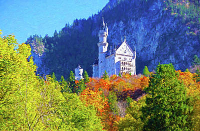 Photograph - Mad Ludwig's Castle by Dennis Cox Photo Explorer