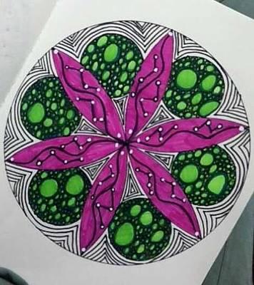 Painting - Mad Mandala 2 by Reneza Waddell