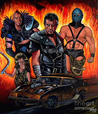 Post Apocalyptic Painting - Mad Max 2 by Jose Mendez