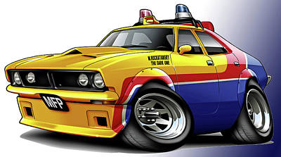Mad Max Mfp Falcon Police Car Print by Maddmax