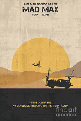 Painting - Mad Max Minimalist Movie Poster by Celestial Images