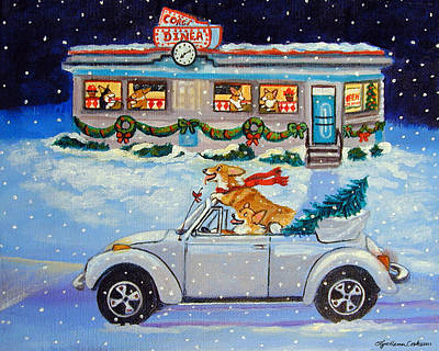 Pembroke Welsh Corgi Painting - Mad Max's Ride by Lyn Cook
