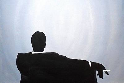 Painting - Mad Men In Silhouette Black #2 by John Lyes