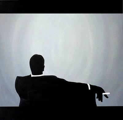 Painting - Mad Men In Silhouette Black by John Lyes